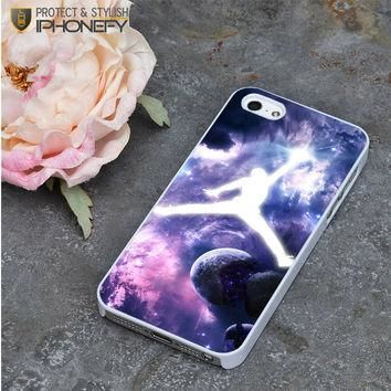 Michael Jordan In Galaxy Nebula iPhone 5|5S Case|iPhonefy
