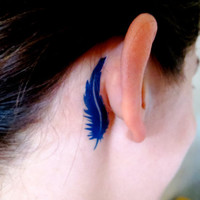 Demi Lovato Inspired FEATHER Ear Tattoo