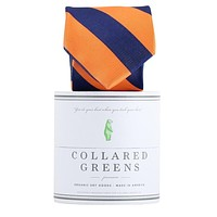 The Benthaven Tie in Orange/Navy by Collared Greens