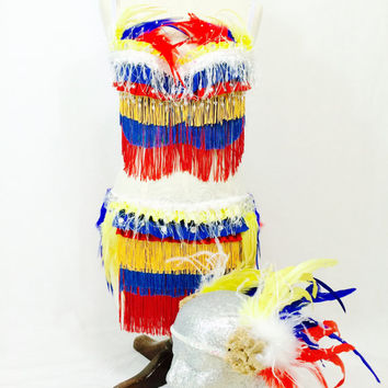 Venezuela and Colombia feather costume EDC / rave outfit / native / indian