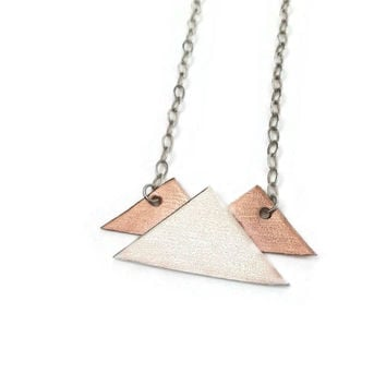 Mountain Necklace in Sterling Silver and Copper