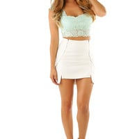 All Things New Top: Mint