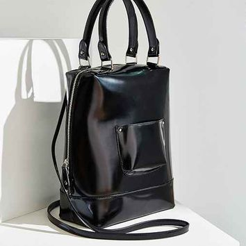Cooperative Structured Handle Tote Bag