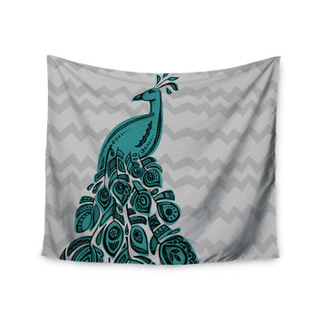 "Brienne Jepkema ""Peacock Blue"" Wall Tapestry"
