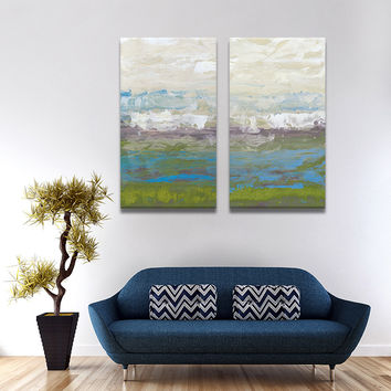 2 PIECES MODERN ABSTRACT HUGE WALL ART OIL PAINTING ON CANVAS PRINT FOR THE BEST SELL  FREE SHIPMENT No FRAME