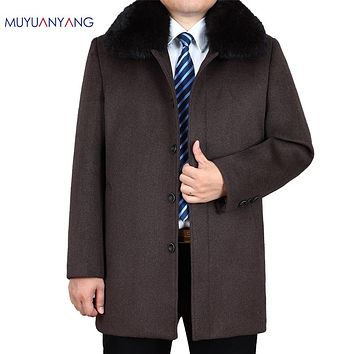 Men Wool Coat  Men's Woolen Jackets Winter Wool Coats & Jackets Overcoat Clothing