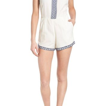 Tularosa 'Boyd' Embroidered Cotton Romper | Nordstrom