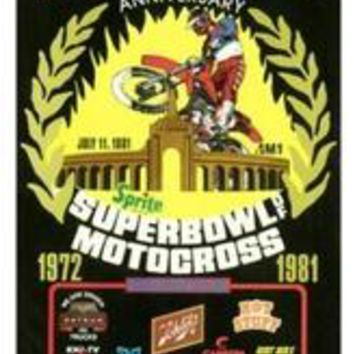 Wood Sign : 1972 Superbowl of Motocross
