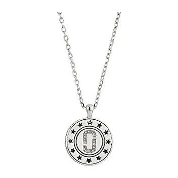 Marc Jacobs Medallion Double Sided Pendant Necklace