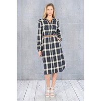 Pick Your Plaid Dress - Navy