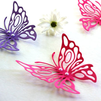 3d Butterfly wall art,Pink and Purple Butterflies,Wall Art,Paper Butterflies,3d butterflies,Wall Butterflies