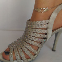 Silver Angel Wings Anklet, Delicate and Tiny Silver Angel Wings on Slim Silver Chain on Elegant Anklet, Ankle Bracelet Angel Wings