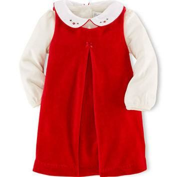 Ralph Lauren Childrenswear Baby Girls One Piece Bodysuit and Dress Set