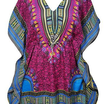 Womens Eliza Short Caftan Beach Bikini Cover Up Tunic Kaftan DressOne Size: Amazon.ca: Clothing & Accessories