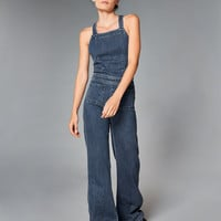 Denim Flare Jumpsuit