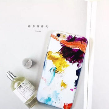 Creative abstract oil painting phone case for iPhone 7 7 plus iphone 6 6s 6 plus 6s plus + Nice gift box 080902