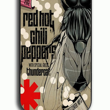 iPhone 4S Case - Hard (PC) Cover with red hot chili peppers Plastic Case Design