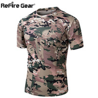 Summer Military T-shirt Men Tactical Army Combat T Shirt Quick Dry Short Sleeve Camo Clothing Casual O Neck Tshirt
