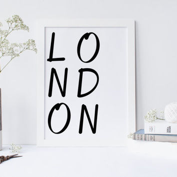 Printable art CITY poster, London Print, Poster for office decor, gifts, work desk, city prints, London city Prints, art, Wall Art, Art