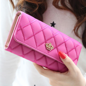 Embroidery Quilted Wallet
