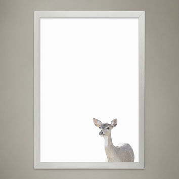 Baby DEER Animal Print Nursery wall decor, Wall Art for Children's room, Baby Room Decor, Watercolor Animal Illustrations