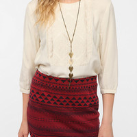Urban Outfitters - Ecote Embroidered Bib Blouse