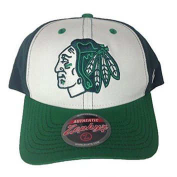 Chicago Blackhawks Zephyr NHL Green St. Patrick's Day Staple Adult Hat