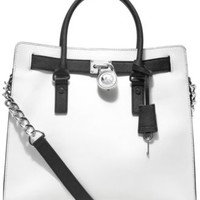 MICHAEL Michael Kors Large Hamilton Chain Tote with Silver Hardware | macys.com