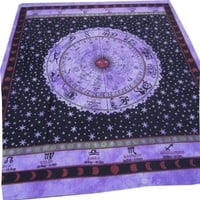 Horroscope Zodiac Sign Celestial Indian Tapestry Labhanshi