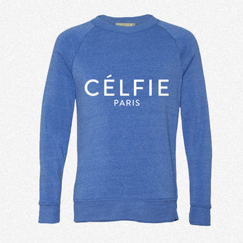 Celfie Pari fleece crewneck sweatshirt