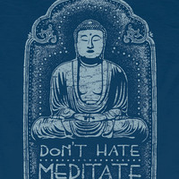 NEW! Don't Hate Meditate Men's Organic T-Shirt