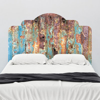 Paul Moore's Rusted Metal Headboard wall decal