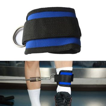 Gym Sports Ankle Strap D-ring Thigh Leg Pulley Fitness Weight Lifting Attachment