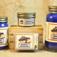 Blueberry Cheesecake Candles and Wax Melts, Bakery Scent Candle Wax, Highly Scented Candles and Wax Tarts, Great Home Baked Scent
