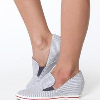 80%20 Trudy Seersucker Slip-on Wedge Sneakers