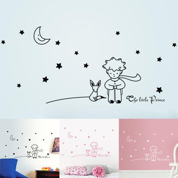 Mosunx Business Stars Moon The Little Prince Boy Wall Sticker Home Decor Wall Decals