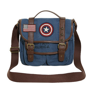 Loungefly Marvel Captain America Suit Satchel