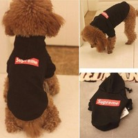 Supreme Dogs Clothes Top Hoodie
