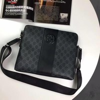 GUCCI MEN'S HOT STYLE LEATHER CROSS BODY BAG