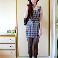 Vintage 90's grunge monochrome mini dress from SusieTuesday
