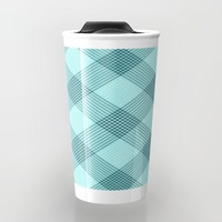 Checkered SeaWave Travel Mug by RichCaspian