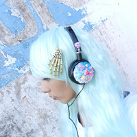 Pastel cute Harajuku Headphone  by Kawaii by kawaiiRebelUnicorn