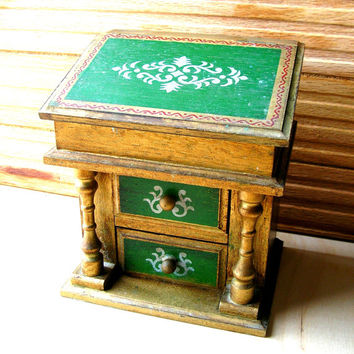 Vintage Music Box - Vintage Jewelry Box - Florentine Jewelry Box - Florentine Music Box - Beautiful Dreamer