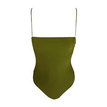 Stone Fox Swim Shanti One Piece in Avocado