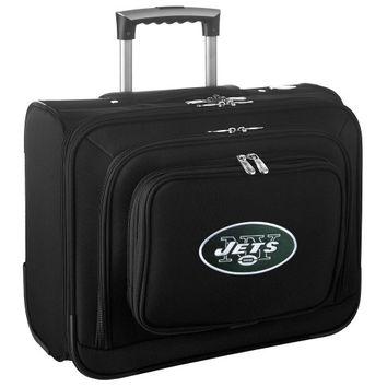 New York Jets Carry-On Rolling Laptop Bag - Black - http://www.shareasale.com/m-pr.cfm?merchantID=7124&userID=1042934&productID=540324405 / New York Jets