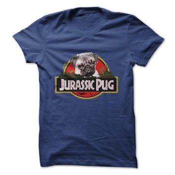 Jurassic Pug T-Shirt (Ladies)