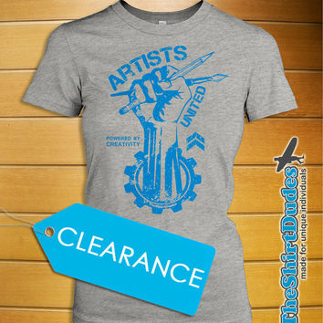 M - Artists United - revolution freedom creative unique painters drawing sketch tee t-shirt (clearance)