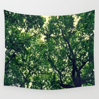 In the woods the light through leaves Wall Tapestry by ARTbyJWP