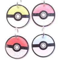 Pokemon Pokeball Pet ID tag  - Customizable - Pick From 4 Colors - Cute Pet ID Tag, Dog ID tag, Cat Name Tag, Lightweight Pet Tag