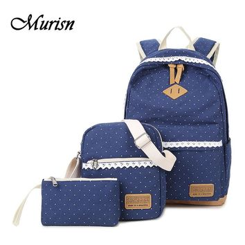 Canvas Backpack Lace Fashion Girl Feminine School Backpacks For Teenagers Girls School Bags For Teenage Women Bagpack Female